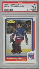 1986 O Pee Chee John Vanbiesbrouck PSA 7.5 NM # 9 RC better than a 7 not quite 8