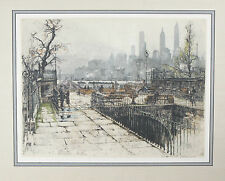 """""""Montague Terrace, New York"""" By Tanna Kasmir Hoernes Signed Etching/Aquatint"""