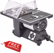 Portable Electric Table Saw Power Tool Miter Garage Mechanic Compact Corded Safe