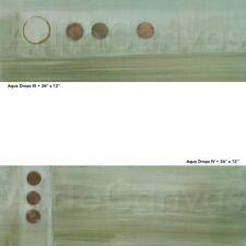 """AQUADROPS III (18W""""x24H"""") and IV (18W""""x24H"""") SET by KAREN LORENA PARKER - CANVAS"""