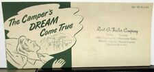 Early 1950s Mastercraft Trailer Co Knock-About Camp Trailer Travel Tent Flyer