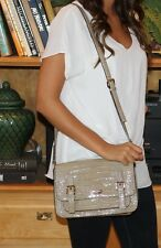 Kate Spade Knightbridge Scout Crossbody Bag Gray Goose Color Croc Crossbody