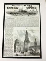Russe Royalty Antique Imprimé 1856 Couronnement The Holy Gate Moscou Russie