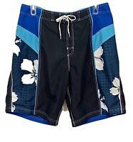 Speedo Mens Swim Trunks Board Shorts Size 38 Blue VGC