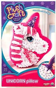 Plush Craft Unicorn Pillow Fabric By Numbers Kit New Fun Girls Toy Gift Age 5+