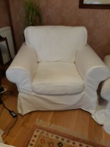 Ikea cover set for Ektorp armchair in white