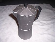 Large Charcoal Aluminium Stovetop Expresso Coffee Maker Italian Bialletti Style