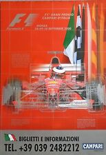 Ferrari F1 Monza Italian Grand Prix 2000 Schumacher Original Poster 96cm x 66cm
