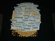 PITTSBURGH, PA PITTSBURGHESE BLACK SHORT SLEEVED T-SHIRT MEDIUM NEW