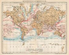B6277 Correnti marine - Carta geografica antica del 1902 - Old map