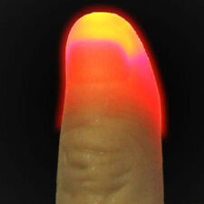2 Pcs Light Up Thumbs Fingers Magic Trick Thumbs Tips Evening Night Toy