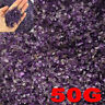 50g Natural Tiny Amethyst Point Quartz Crystal Stone Rock Chips Lucky Healing TR