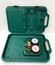Refco Gylcerin Filled Refrigeration Gauge Manifold Set With Carry Case New 1