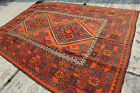 11'5 by 8 FT Antique Medallion Pattern Natural Dye Washable Area Size Rug