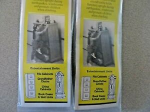 Heavy Duty Quakehold! 2830 7-Inch Steel Furniture Cable Lot Of 2