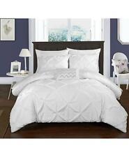 Chic Home Daya 4 Piece Queen Duvet Cover Set White $165