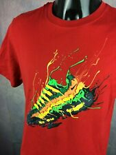NIKE T Shirt Air Basket Sneakers Sportwear Match Max Neon Fluo Design Iconic Red