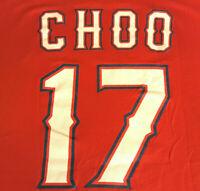 Texas Rangers Logo CHOO SGA T Shirt XL X-Large EUC RED MLB Baseball INV260
