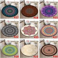 9 Type Mandala Flowers Round Carpet Floor Yoga Rugs Non-Slip Room Bath Door Mat