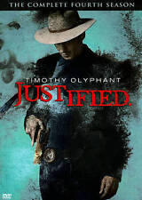 Justified: The Complete Fourth Season (DVD, 2013, 3-Disc Set) Region 1 New