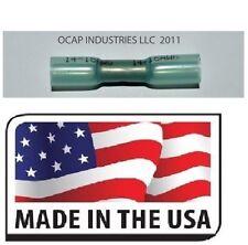(100) 16-14 Ga. Blue 3M Heat Shrink Butt Wire Connector Automotive-Marine Grade