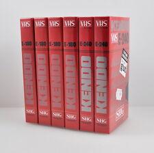 6 x Leerkassetten: KENDO E-180 & 240 - VHS PAL SECAM - NEU - OVP - SHG - NOS