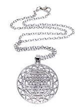 Chakra Sri Yantra Meditación Colgante Collar Cadena De Meditación Yoga Grande
