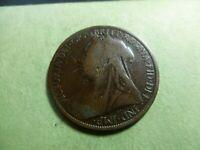 1897 British Large Penny    #BLP97 1897~UK (British) Victoria Coin