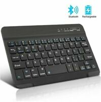 Rechargeable Wireless Bluetooth Keyboard For IOS iPad Android Tablet PC Desktop