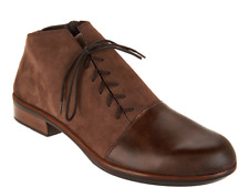 Naot Leather Outside Lace-up Ankle Boots - Camden Pecan Brown EU38 US 7-7.5