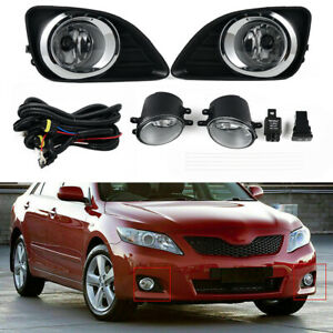 For Toyota Camry 2010 2011 Clear Front Bumper Lamps Driving Fog Lights + Switch
