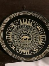 Vintage Ceramic Plate Made In Greece - Hanger Attached