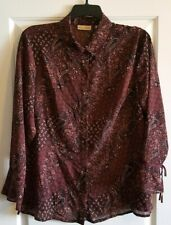 Apostrophe Blouse  Women's 3/4 sleeve Plus Sz 18W NICE