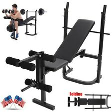 Exercise Adjustable Incline Weight Bench Barbell Lifting Press Gym Equipment USA