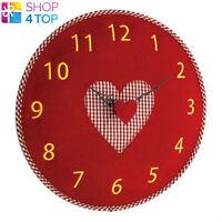 FELT WALL CLOCK RED HEART LOVE HOME DECORATION NOVELTY CUTE LOVELY EXTRAORDINARY