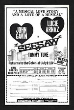 "Lucie Arnaz ""SEESAW"" Tommy Tune / Cy Coleman / Michael Bennett 1974 Boston Flyer"