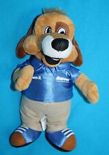 "Aarons LUCKY DOG 10"" Own It BLUE Shirt Plush Stuffed Animal Soft Toy Anico AD"