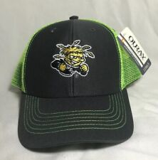 NCAA Wichita State Shockers Neon Green YOUTH Embroidered Logo Hat Cap Ouray