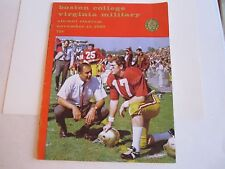 1969 BOSTON COLLEGE VS VIRGINIA MILITARY COLLEGE FOOTBALL PROGRAM - TUB BN-10