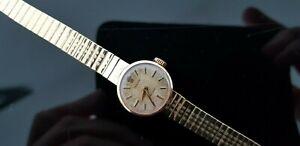 Rolex Precision Vintage 1950's 9ct Gold Hand Wound Ladies Bracelet Watch.