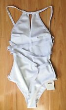 Milea By Seafolly Neo Luxe High Neck Maillot One Piece White - AU 10 (B35)