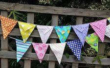 Handmade bunting -Multicoloured Dot Dot Dash photo, wedding, baby, nursery