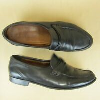 Allen Edmonds Italy Penny Loafer Apron Moc Toe Slip On US 10.5 D Men 49010 Black