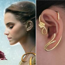 Disney BEAUTY and the BEAST Belle ROSE EARRINGS Ear Cuff Gold Plated COPPER