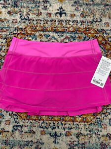 NWT Lululemon Pace Rival Skirt Pow Pink size 8!!