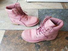 Timberland boots size 6 pink suede VGC worn twice UK Seller