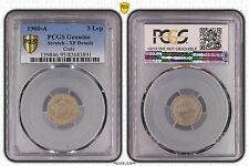 CRETE GREECE - RARE 5 LEPTA XF COIN 1900 YEAR KM#3 PCGS GRADING