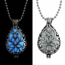 Magic Glow In The Dark Drop Locket Necklace Torch Pendant Cage Gifts New