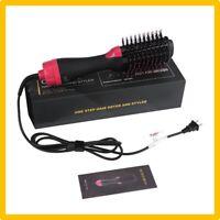 Sèche-Cheveux Brosse Soufflante Lissante Rotative Lisseur Cheveux 3 En 1 Ionique