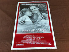 1980 Middle Age Crazy Original Movie House Full Sheet Poster